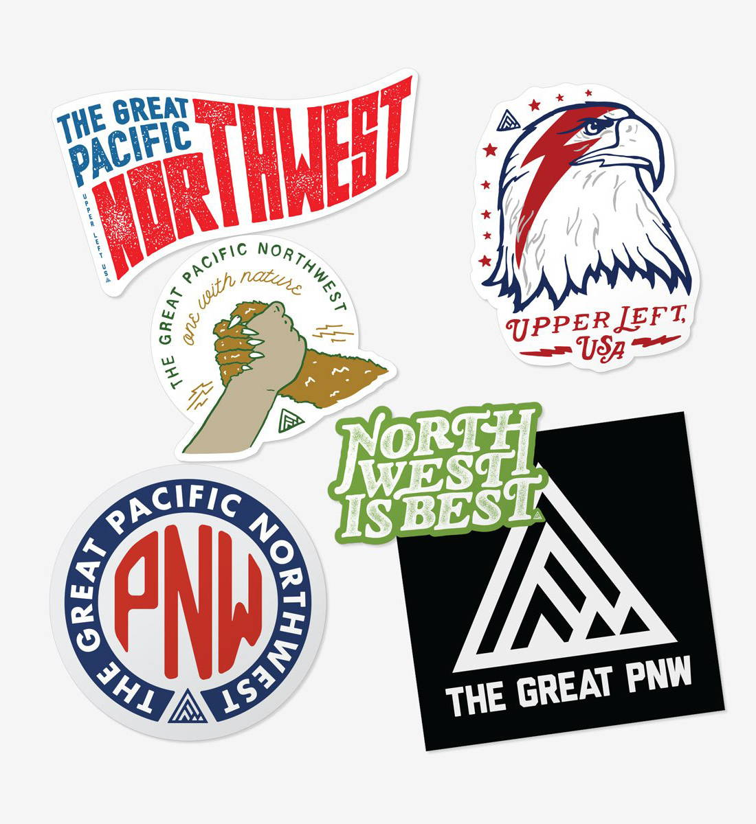 The Great PNW Whitman Sticker Pack