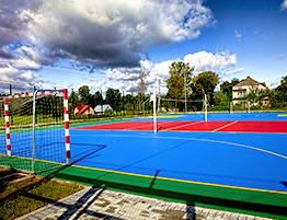 Dalles clipsables en polypropylène pour Handball