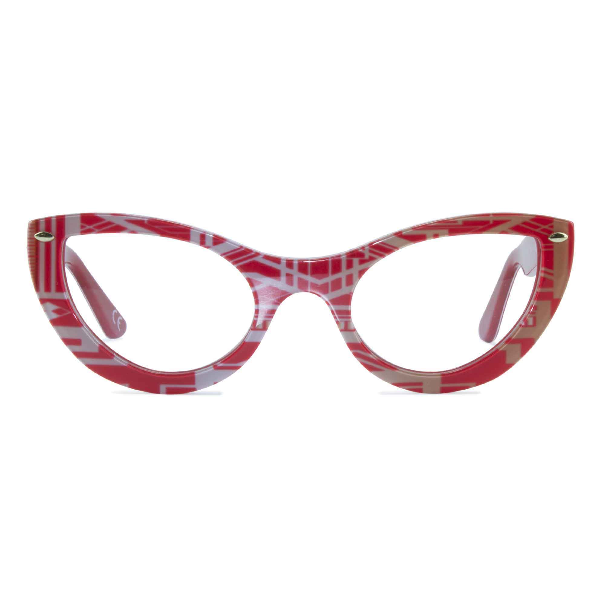 Joiuss gatsby red & gold glasses frame