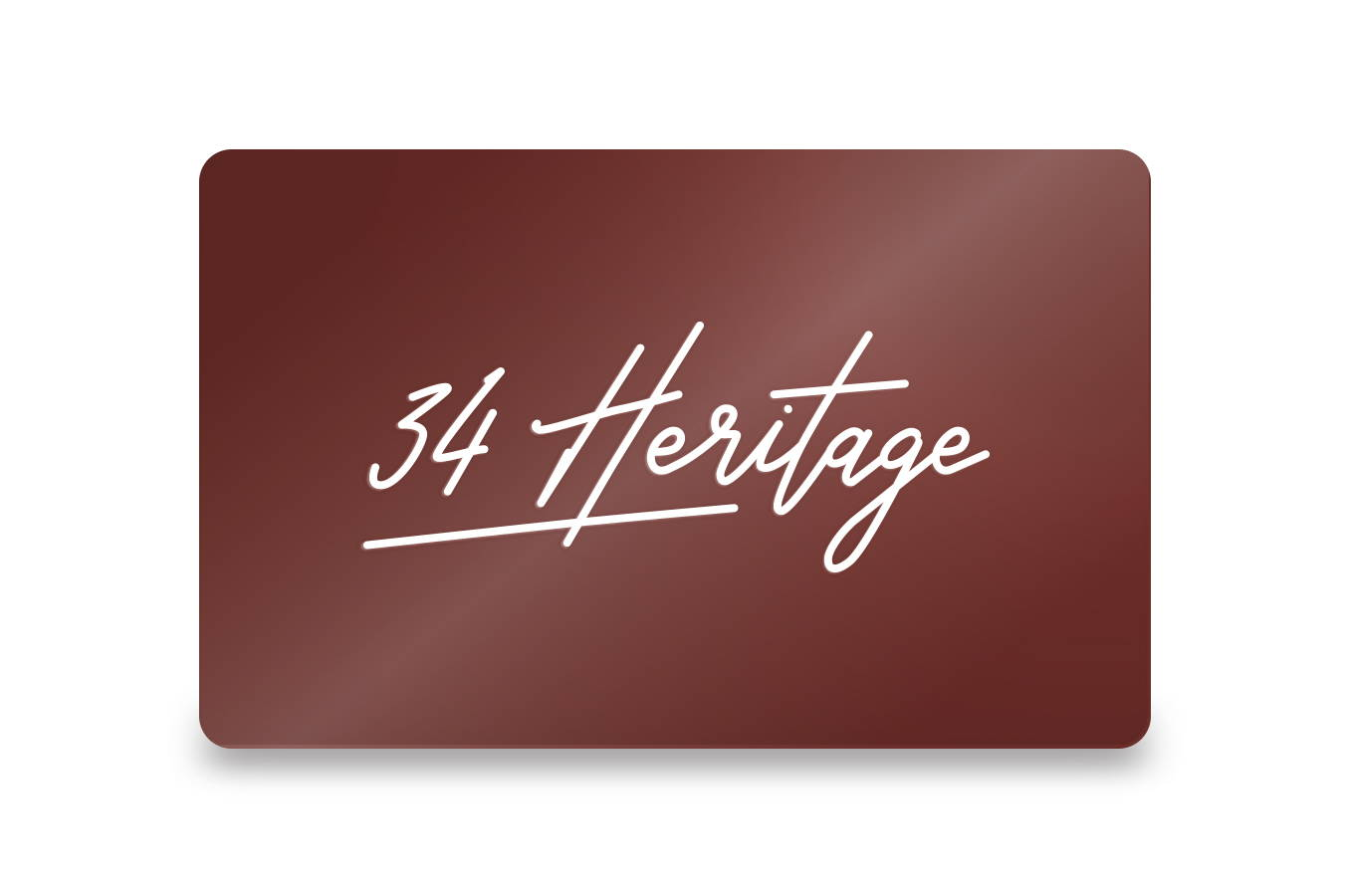 34 Heritage Gift Cards