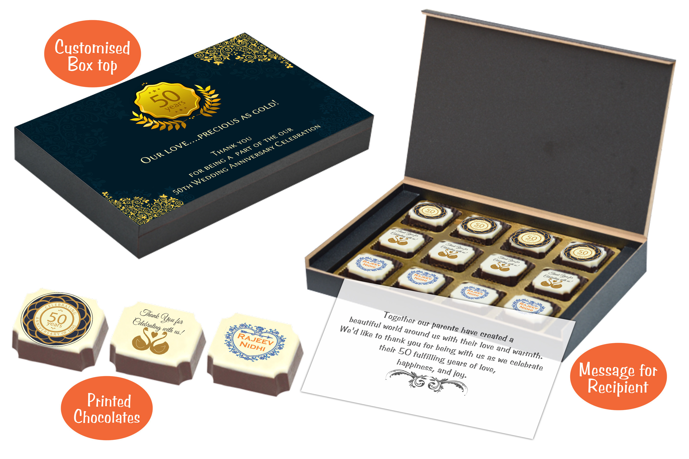 But One Needs To Remember Thank The Guests Who Made Celebration With Special Return Gifts ChocoCrafts Customized Chocolate Boxes Are A
