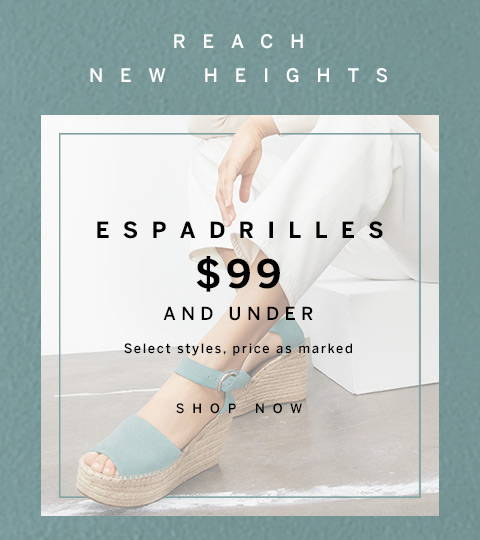 Espadrilles $99 and Under