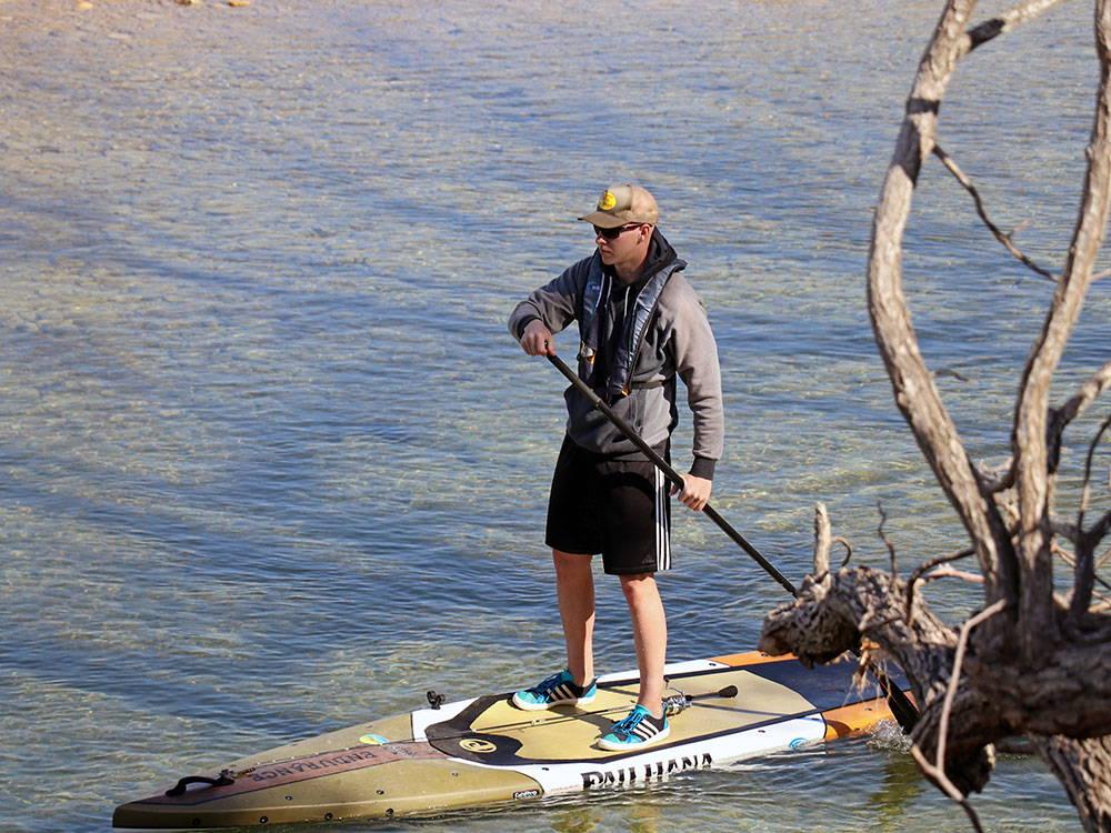 fishing off the Endurance SUP Pau Hana