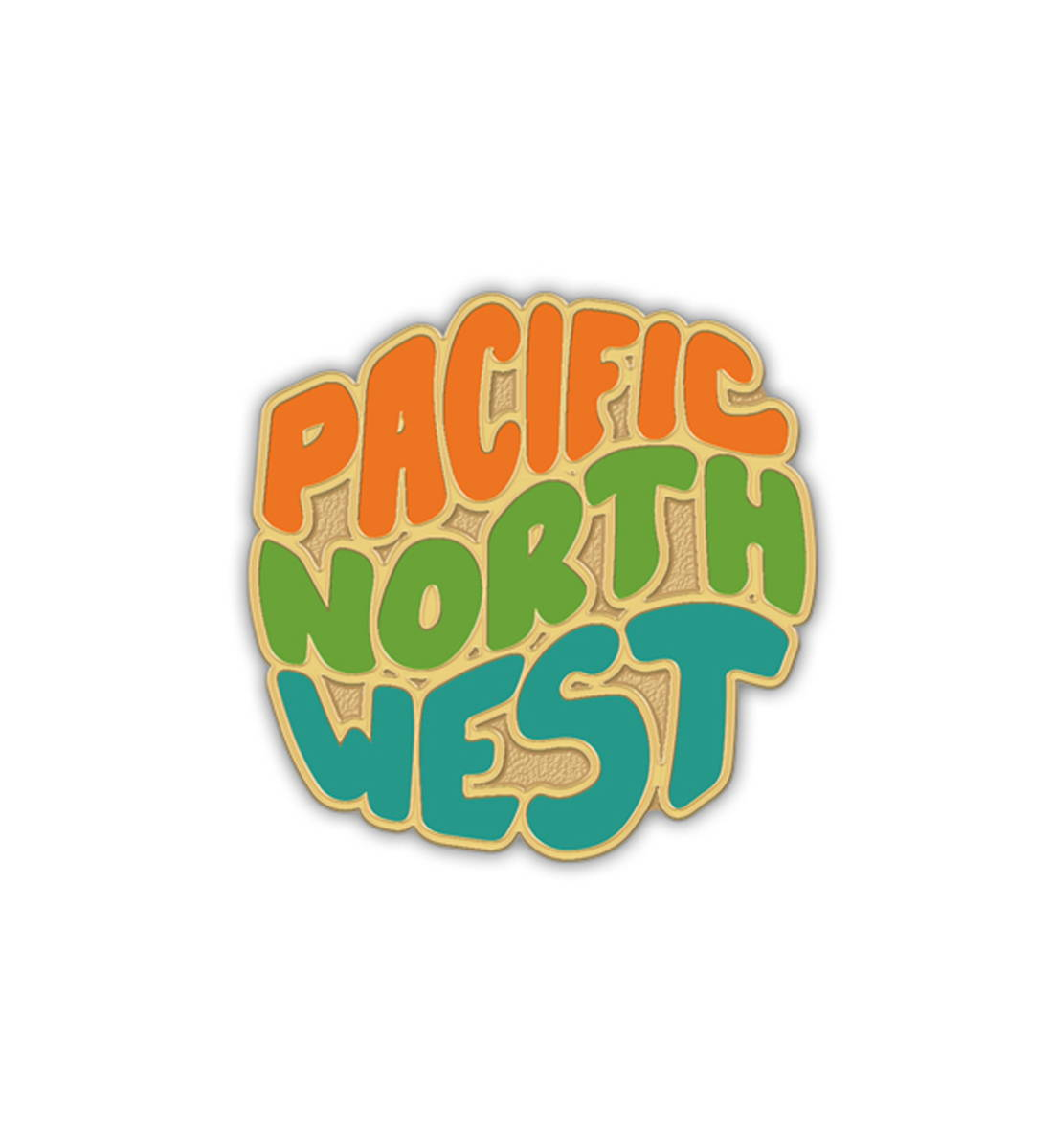 The Great PNW Groovy Pin