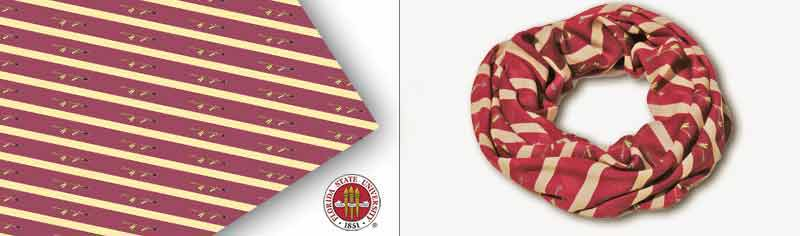 University custom infinity scarves - Modal