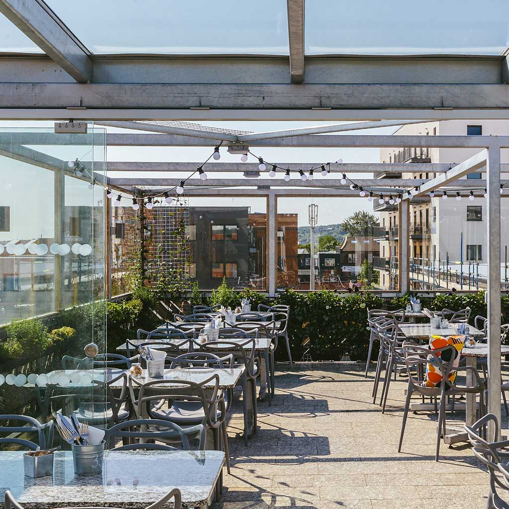 The Factory Kitchen roof terrace