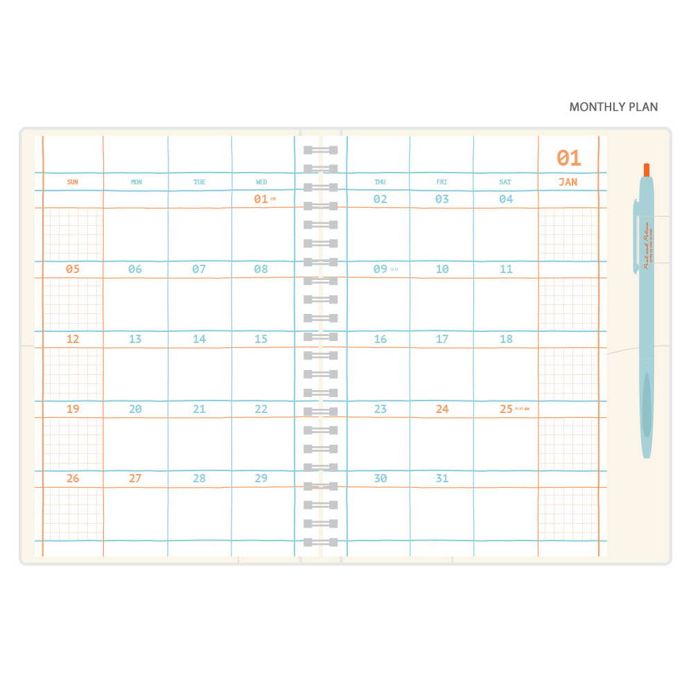 Monthly plan - Romane 2020 Eat play work 365 dated daily diary planner
