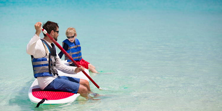 paddle board rentals for families