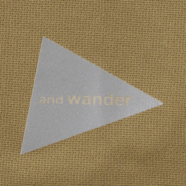 andwander(アンドワンダー)/パワードライ ジャージーラグランロングスリーブT/グレー/UNISEX