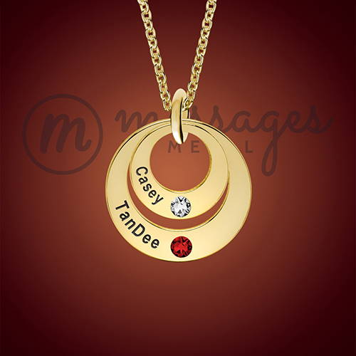 Gold Duo Ring Personalized Necklace