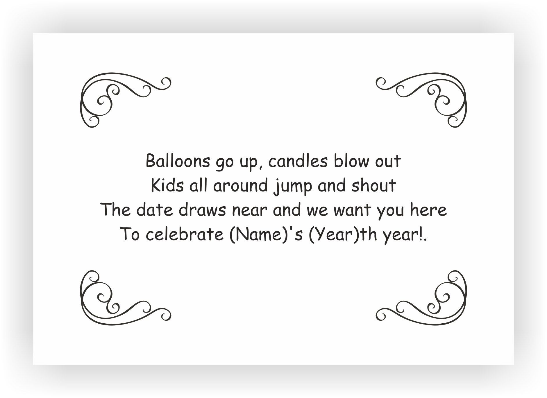 Birthday Party Invite Messages