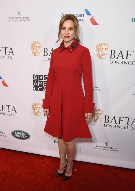 Marina De Tavira, cast member of roma attended the bafta los angeles tea party looking gorgeous in pre fall 2019 collection.