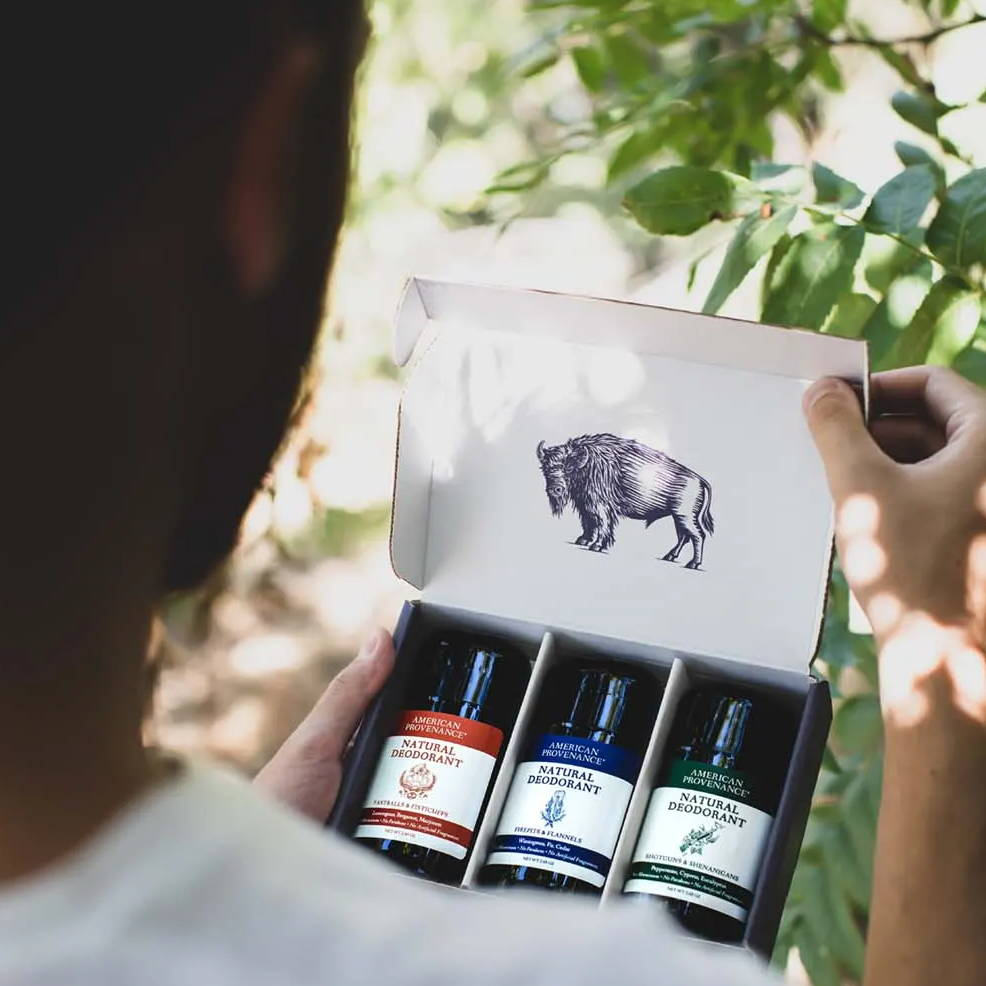 Link to build your own American Provenance Natural Deodorant 3 pack