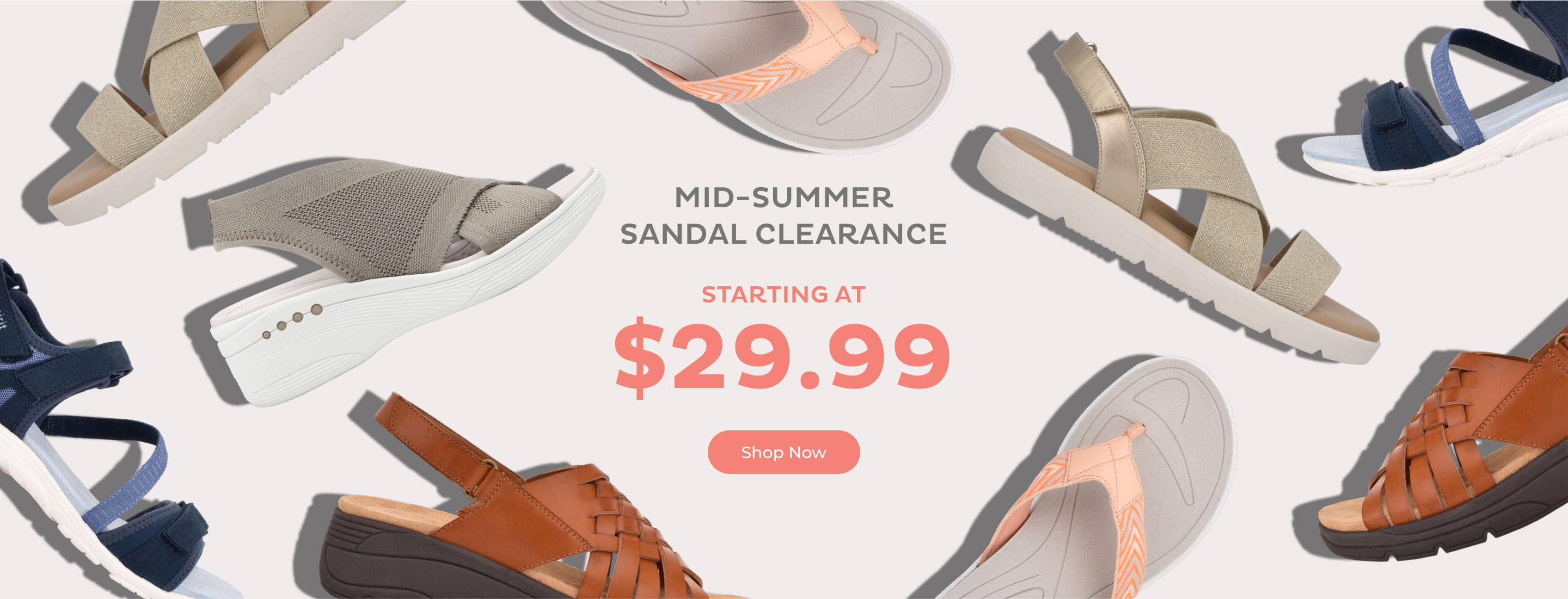 Mid Summer Sandal Clearance Starting at $29.99
