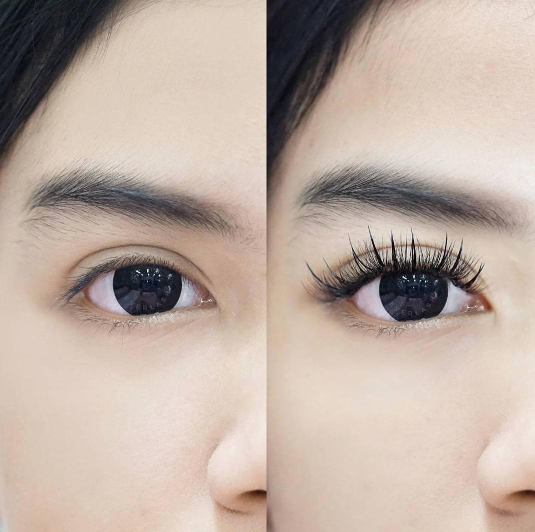 Sambung bulu mata yang ideal
