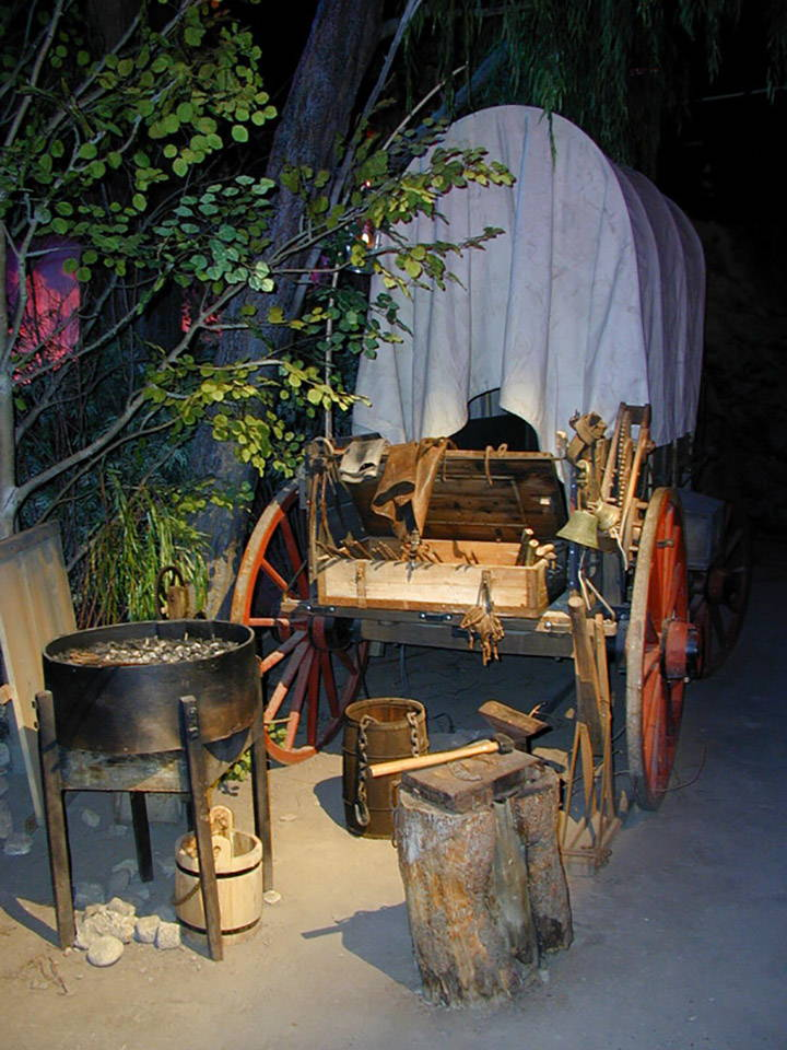 Blacksmith's wagon in the Clover Creek Encampment
