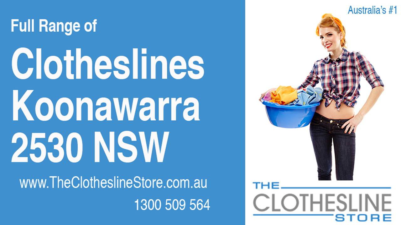 New Clotheslines in Koonawarra 2530 NSW
