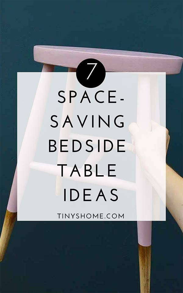 Space saving bedside table ideas