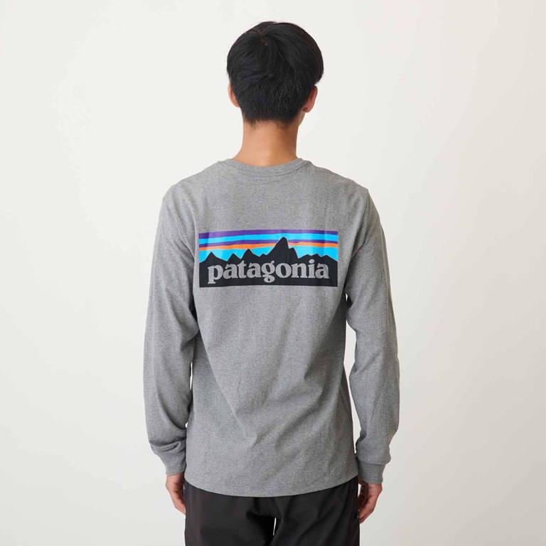 patagonia(パタゴニア)/ロングスリーブ P-6ロゴ レスポンシビリティー/グレー/MENS