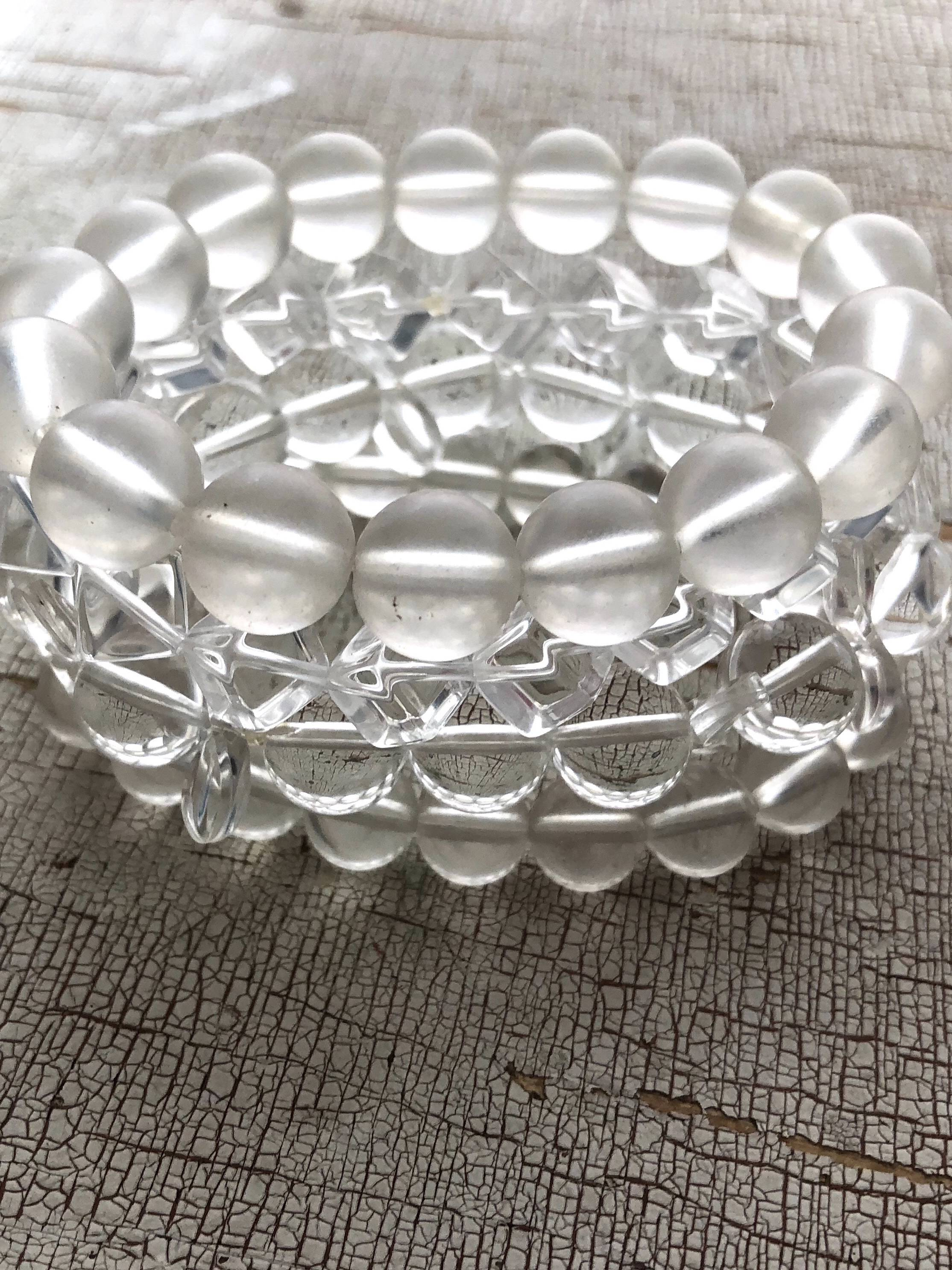 clear stack and stretch bracelets
