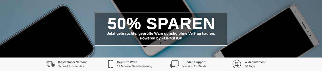 Jetzt Handy & Smartphone gebraucht und günstig kaufen mit bis zu 50% Rabatt! Gebrauchte Handys & gebrauchte Smartphones kaufen, sicher bei FLIP4SHOP!