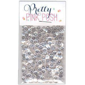 Pretty Pink Posh Sparkling Clear Sequins 4mm