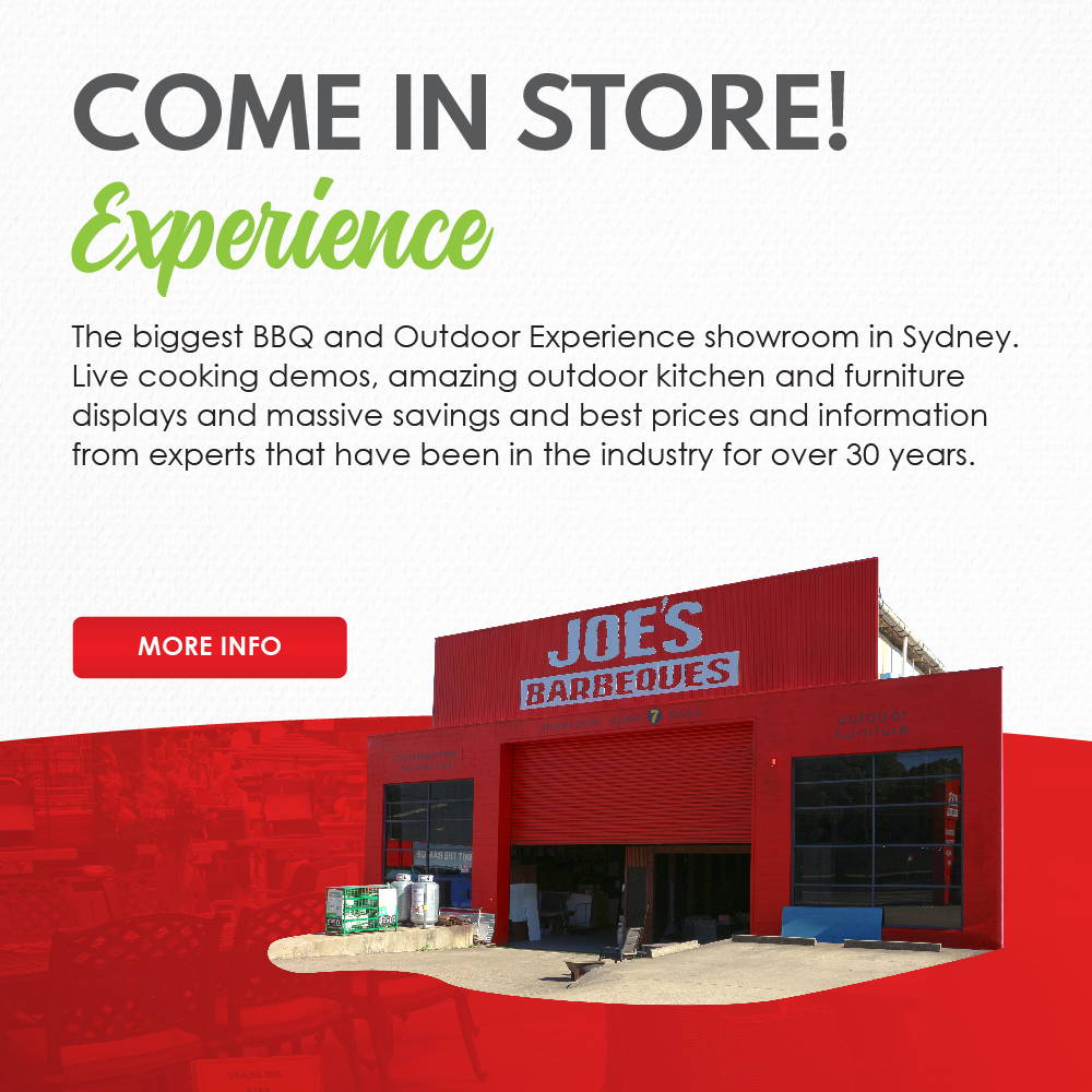 The biggest BBQ and Outdoor Experience showroom in Sydney.  Live cooking demos, amazing outdoor kitchen and furniture  displays and massive savings and best prices and information  from experts that have been in the industry for over 30 years.
