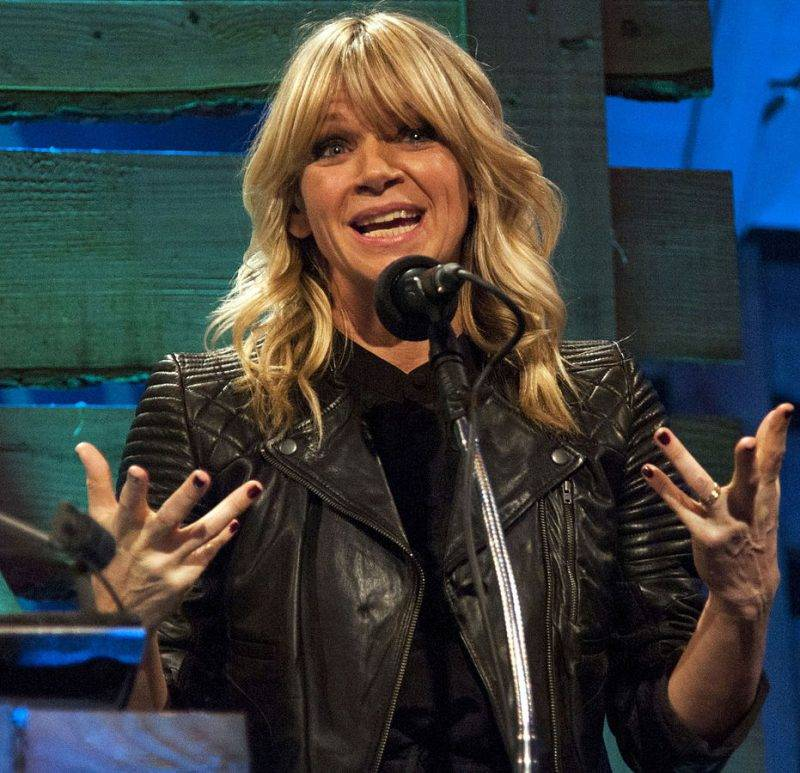 Image Of Zoe Ball Talking
