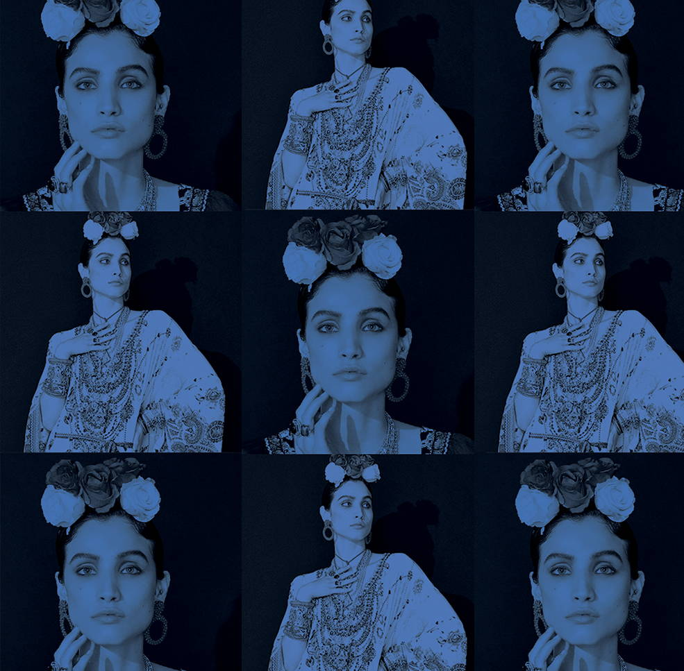 Frida Inspired Blue images