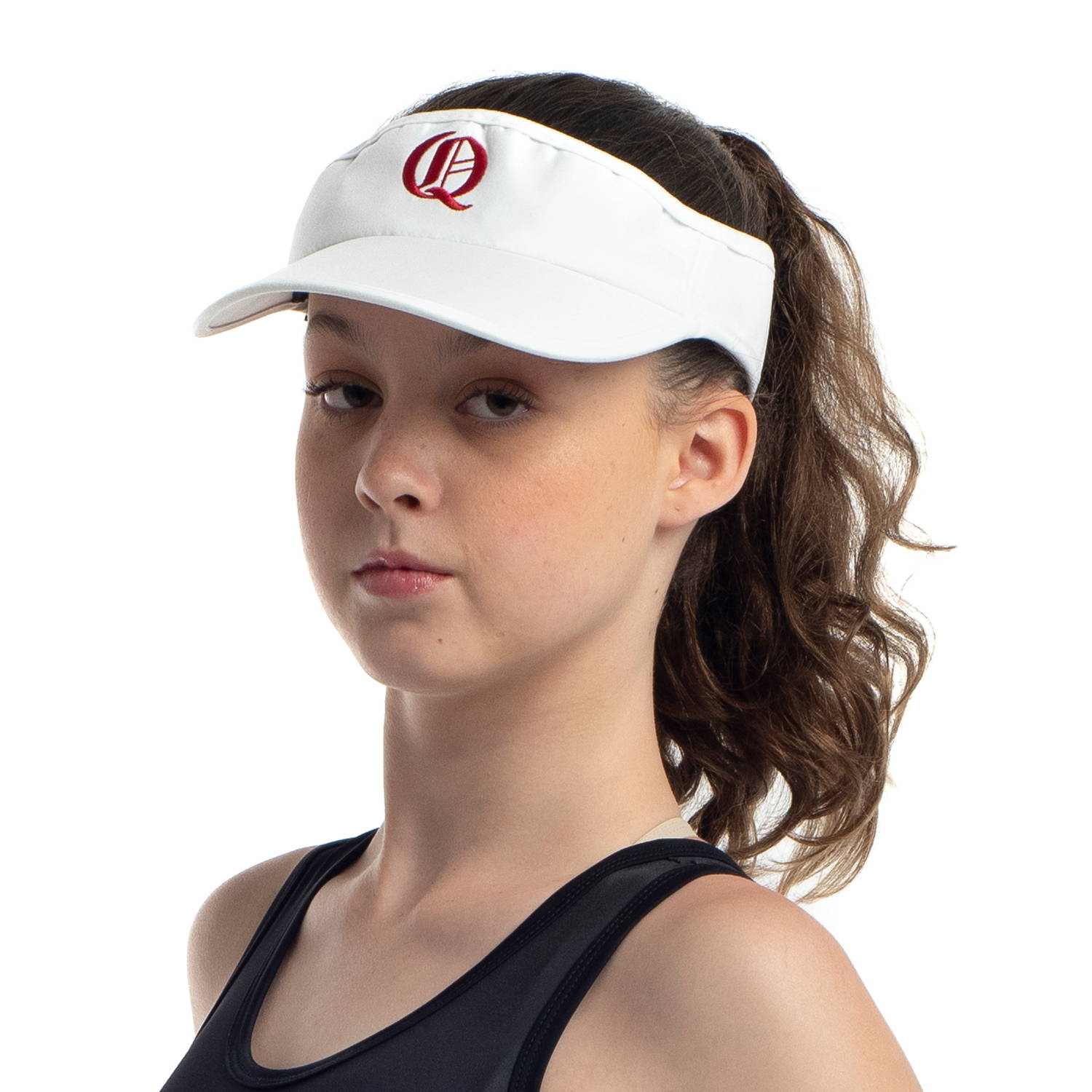 Custom rowing visor for Queenwood School by Valour Sport