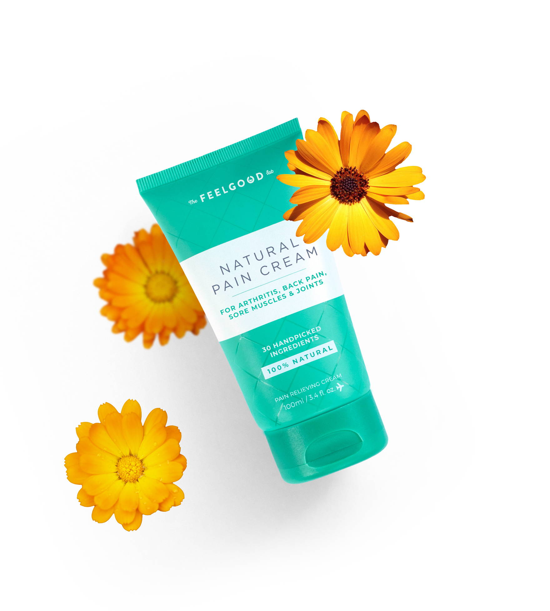 Pain relief cream with Calendula