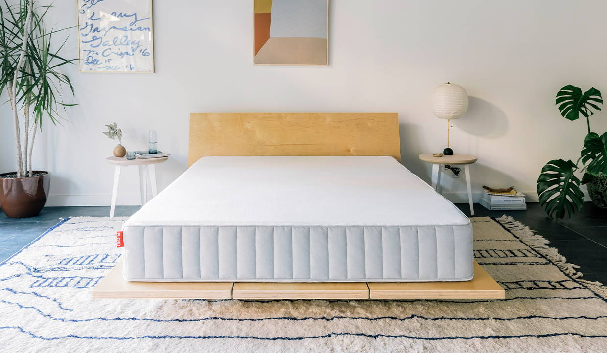 The floyd mattress pairing perfectly with the floyd bed frame