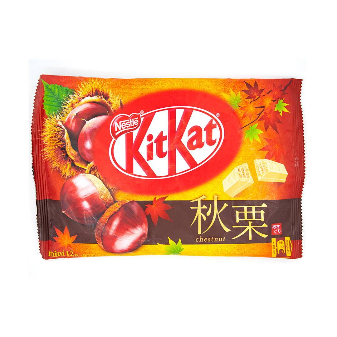 Japanese fall chestnut kit kat