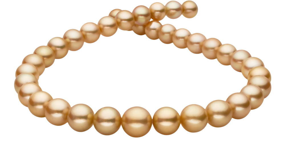Pearl Colors: 22K - 24K Deep-Golden South Sea Pearls