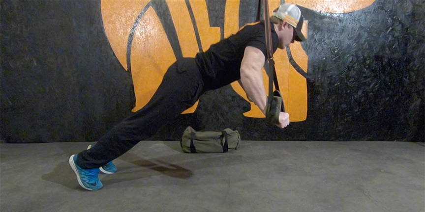 NEWF Bag Strap Push-Ups Exercise