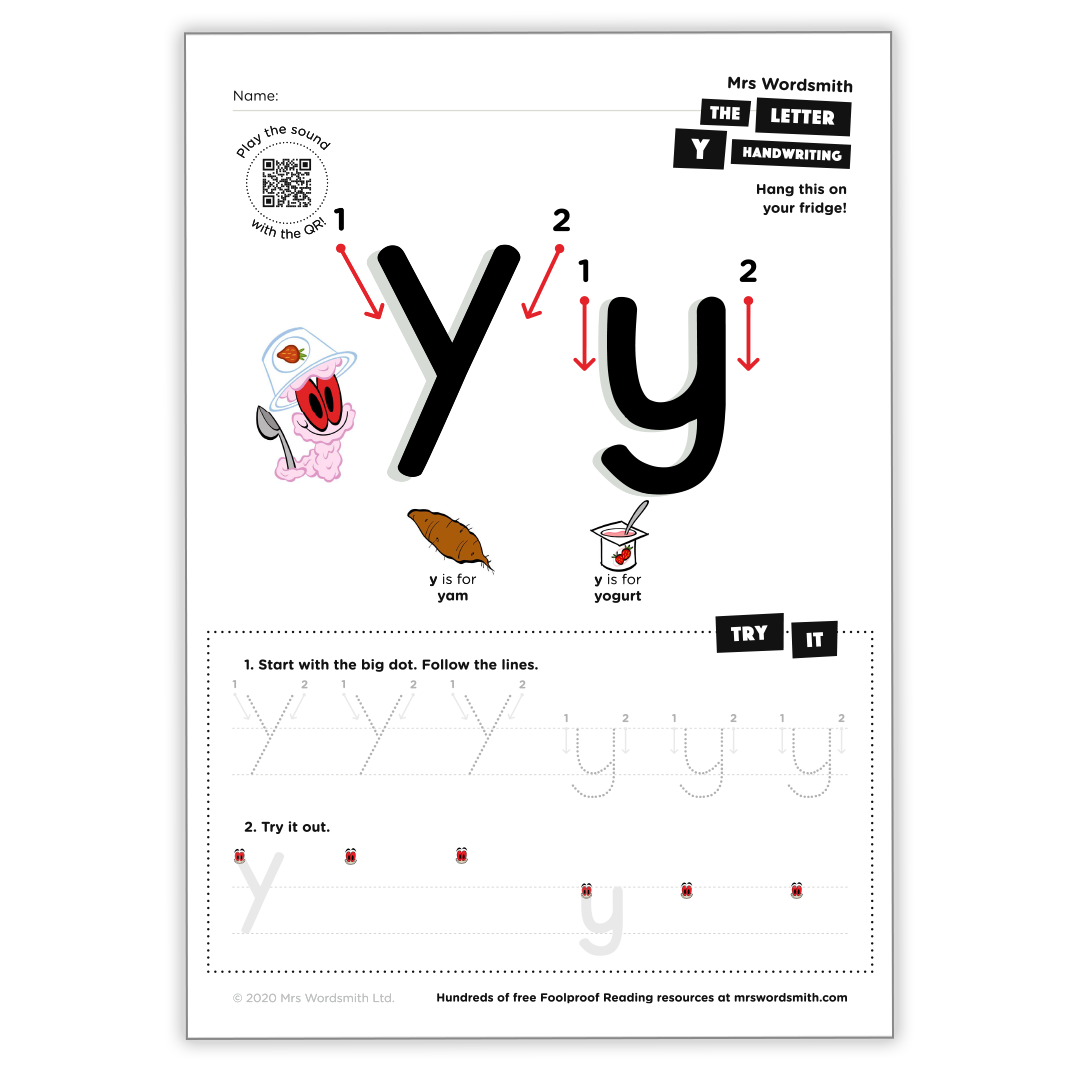 Letter y activity