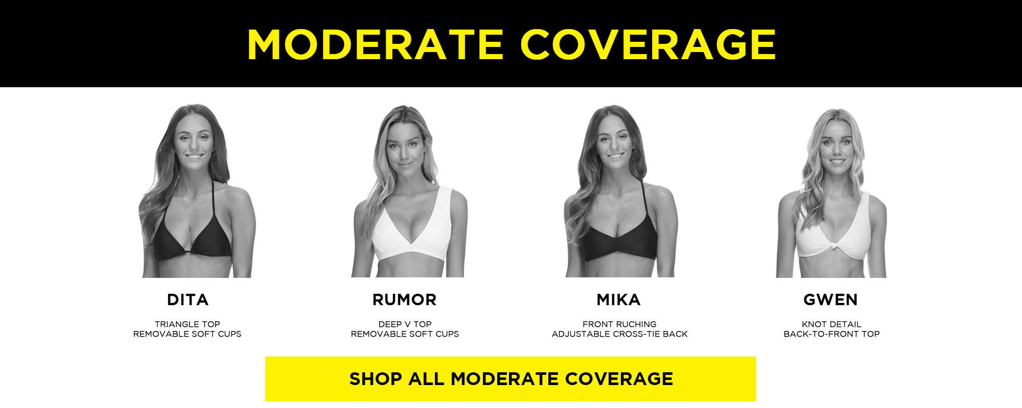 Moderate Coverage Tops
