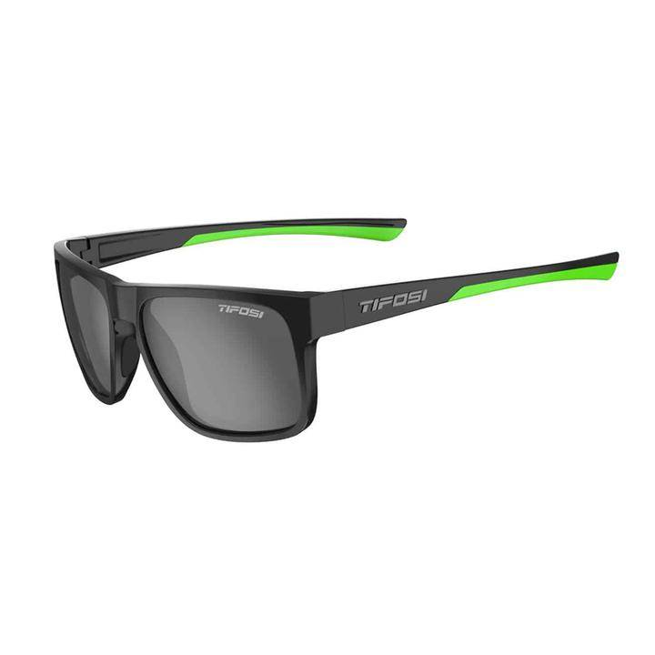 Tifosi Swick Polarized Sunglasses satin black/neon