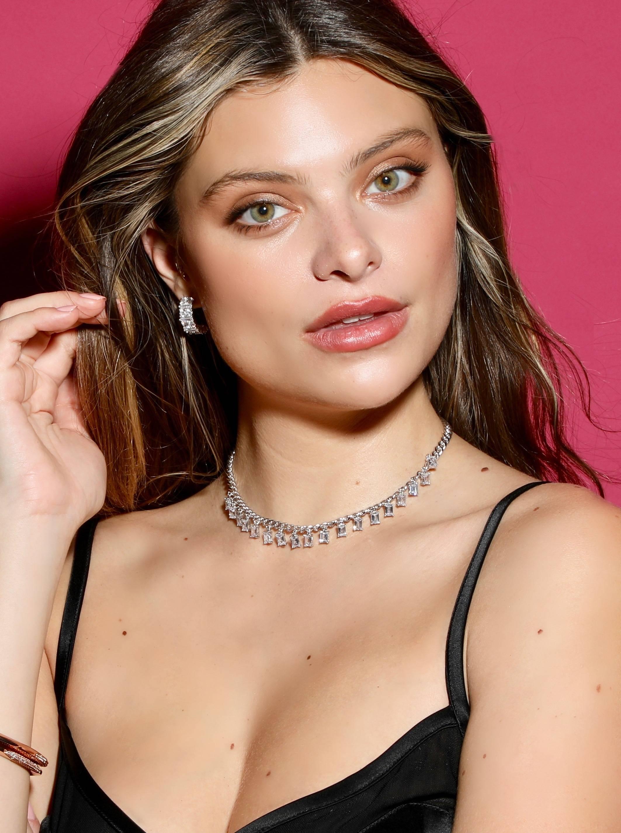 Sparkly Everyday Jewelry On Female Model