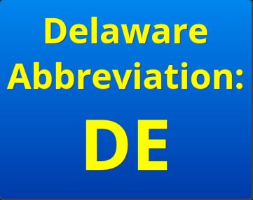 delaware abbreviation DE   delaware business incorporators, inc.
