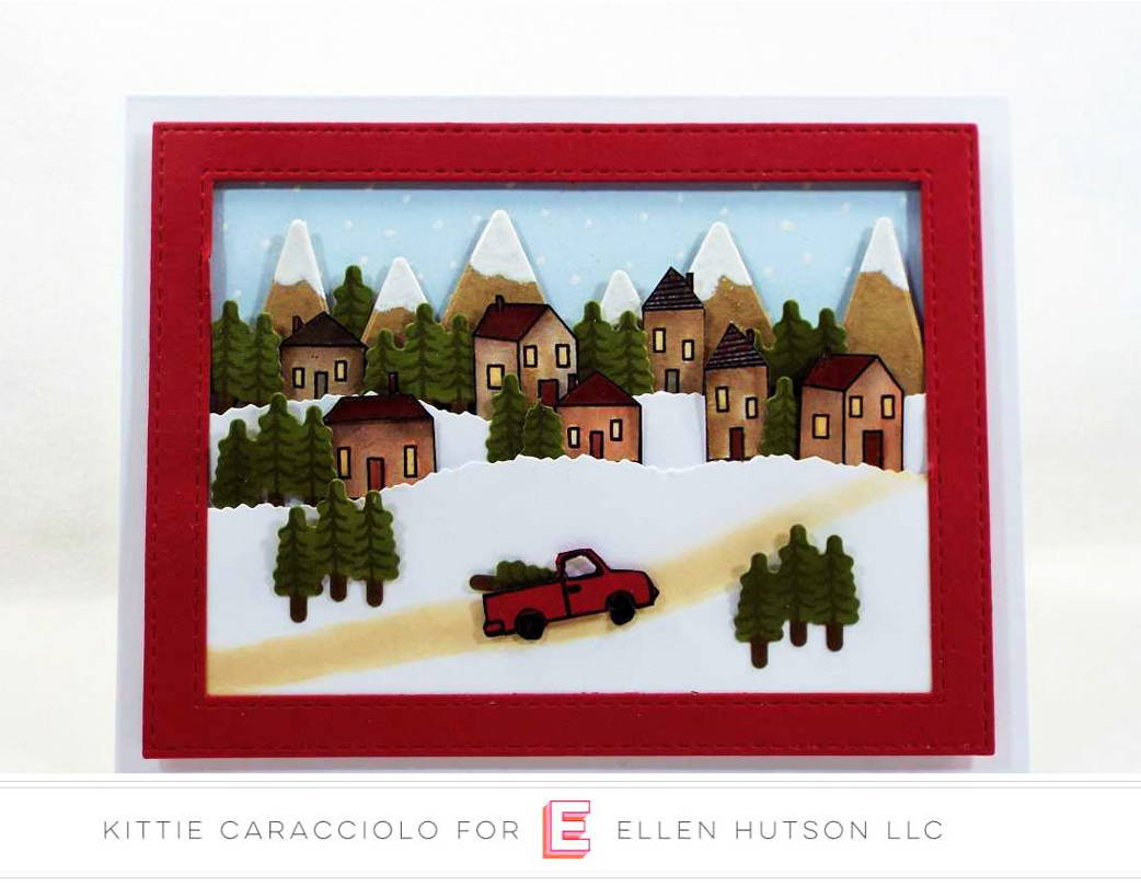 Essentials by Ellen Over the River card by Kittie Caracciolo