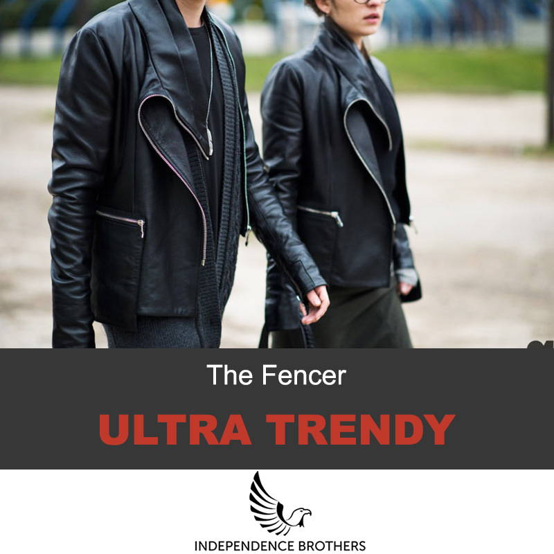 The fencer leather jacket