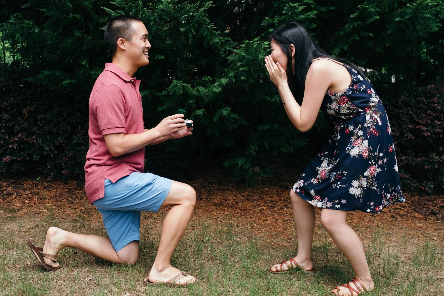 Couple Getting Engaged