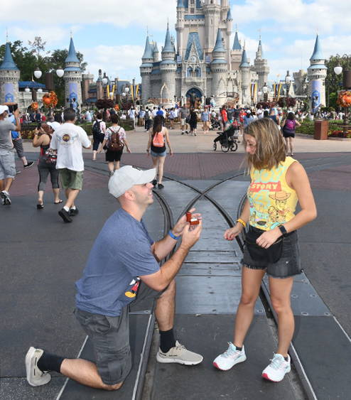 Rob Proposes to Nina at Walt Disney World with an Engagement Ring from Henne Jewelers