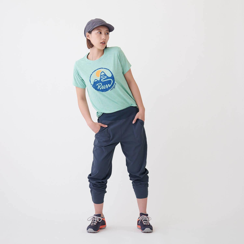 パタゴニア(patagonia)/キャプリーンクール デイリーグラフィックシャツ/ライトグリーン/WOMENS