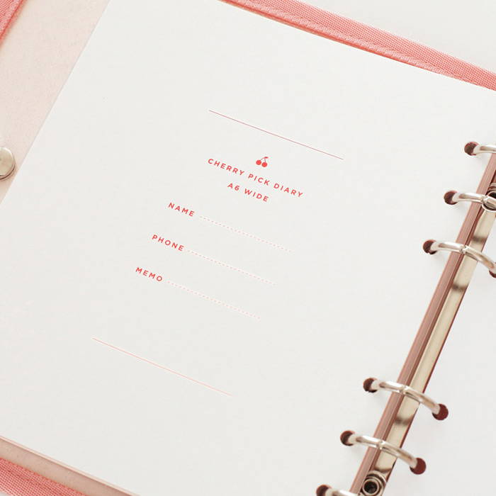 Personal data - 2NUL-Cherry-pick-6-ring-dateless-weekly-diary-planner-