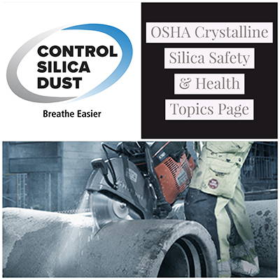 OSHA Crystalline Silica Safety and Health Topics Page