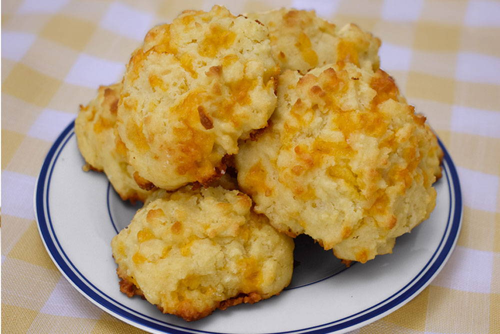 Use Bosquet Gluten-Free All Purpose Baking Mix To Make Cheddar Bat Biscuits