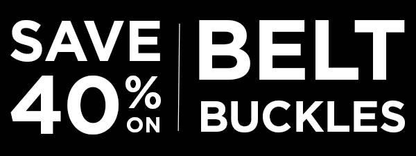 Save 40% On Belt Buckles
