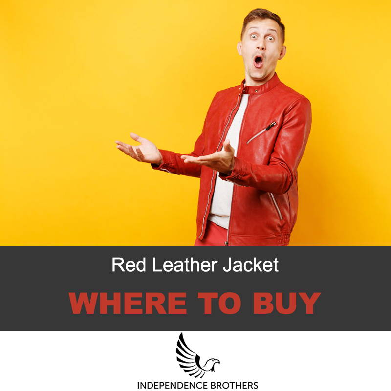 Where to buy red leather jacket